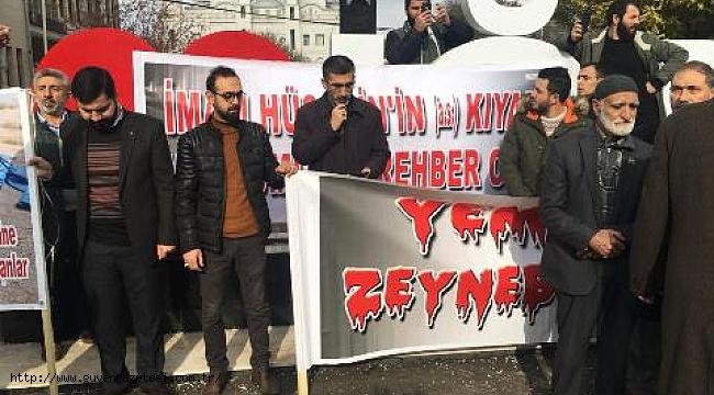Yemen'deki Katliamlara Iğdır'da Büyük Protesto