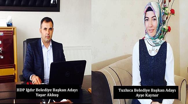 HDP Iğdır Belediye Başkan Adayları Belli Oldu