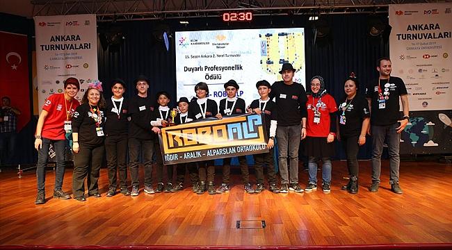Iğdır'ın 'Bilim Kahramanları' Robot Yarışmasına Katıldı