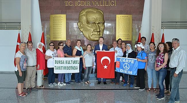 Bursa Kültürel Tanıtım Derneğinden Vali Ünlü'ye Ziyaret