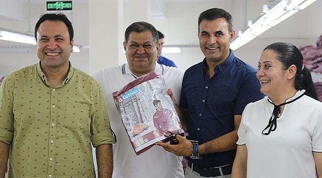 Belediye Başkanı Yaşar Akkuş'tan Tekstil Atölyesine Ziyaret