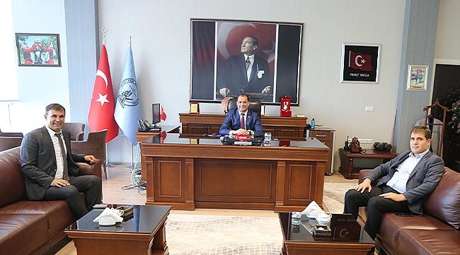 Belediye Başkanı Akkuş'tan Havalimanı Müdürü Bağca'ya Ziyaret