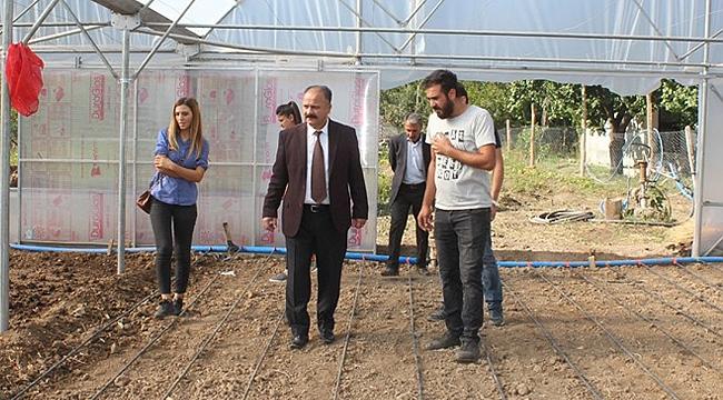 Iğdır'da Yeni Kurulan Seralar Ziyaret Edildi