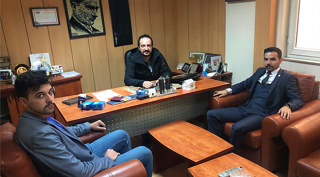 Iğdır Ülkü Ocakları Başkanı Kaşkar'dan Gazeteciler Günü Ziyareti