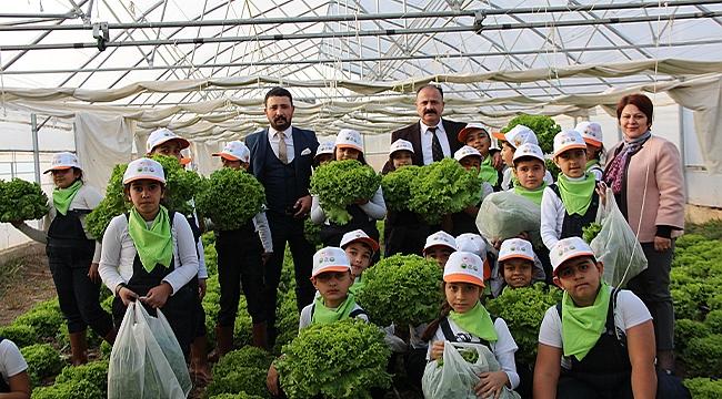 İlköğretim Öğrencilerinden İl Tarım ve Orman Müdürü Özkan Yolcu'ya Ziyaret
