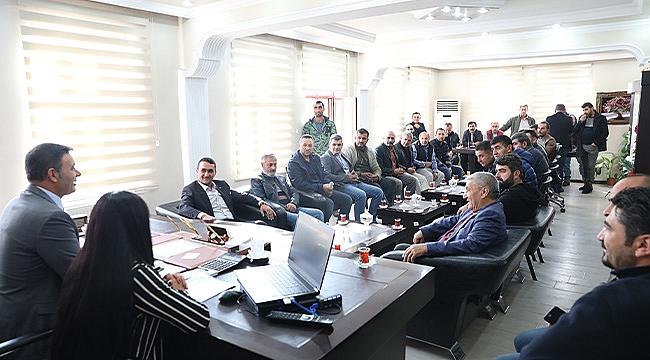 Sanayi Sitesi Esnaflarından Başkan Akkuş'a Teşekkür Ziyareti