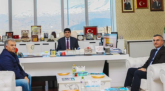 DSİ 24. Bölge Müdür Yardımcısı Serdar Kotan Rektör Alma'yı Ziyaret Etti