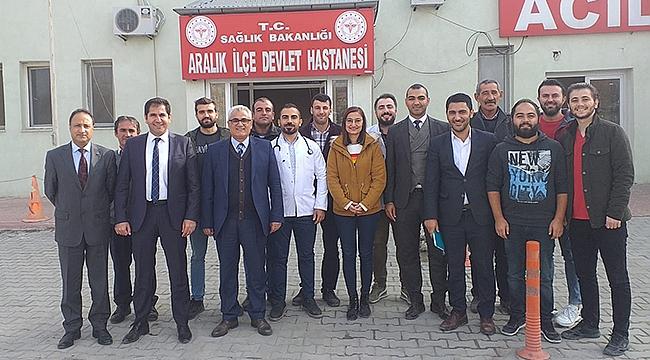 İl Sağlık Müdürü Nevruz Erez'den Aralık İlçe Devlet Hastanesimne Ziyaret