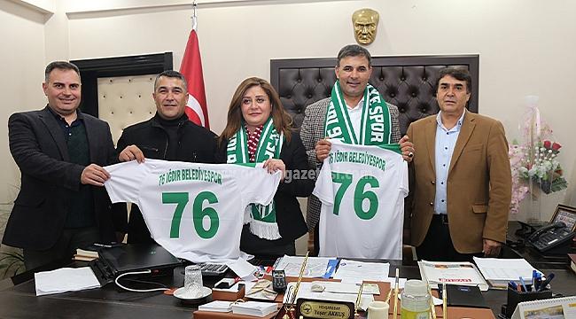 76 Iğdır Belediye Spor'dan Başkan Akkuş'a Ziyaret