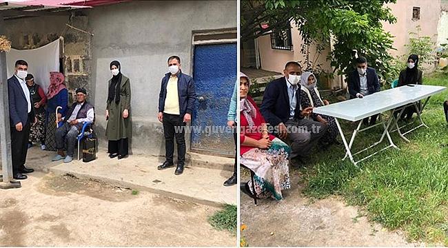 AK Parti İl Başkanı Ayaz Şehit Ailelerini Unutmadı