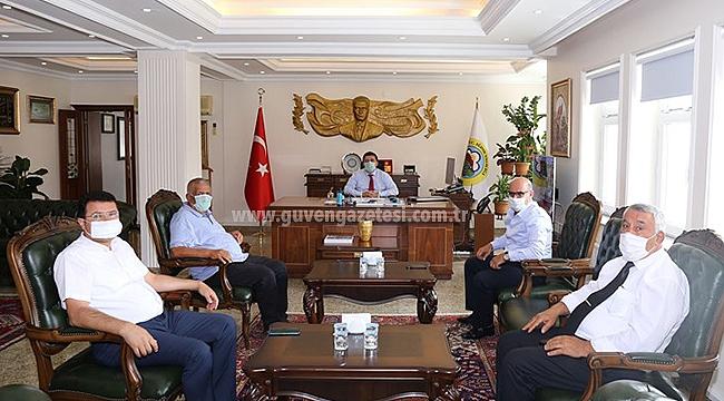 Iğdır Gazeteciler Cemiyetinden Vali Sarıibrahim'e Ziyaret