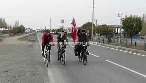 Almanya'dan Bisikletiyle Yola Çıkan Gurbetçi Iğdır'a Ulaştı