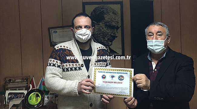 Serdar Ünsal'dan Güven Gazetesi'ne Teşekkür Belgesi