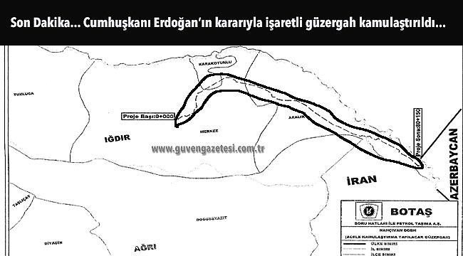 Cumhurbaşkanı Erdoğan'dan Iğdır- Nahçıvan Doğalgaz Hattı İçin Çok Önemli Karar