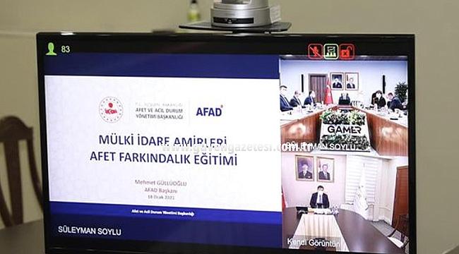 Vali Sarıibrahim, Çevrimiçi Afet Farkındalık Eğitimine Katıldı