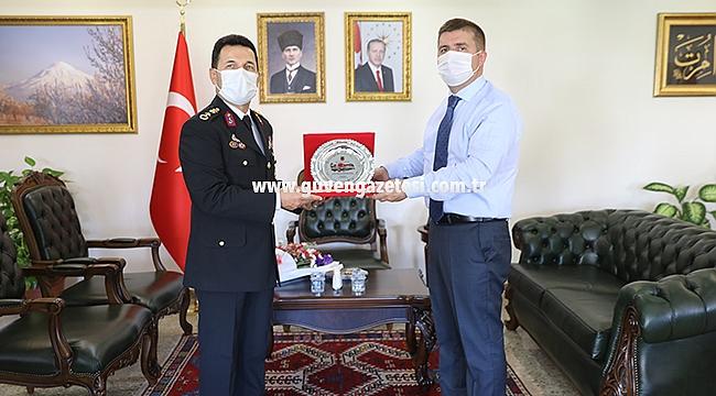 İl Jandarma Komutanı Albay Özdurhan'dan Vali Sarıibrahim'e Ziyaret