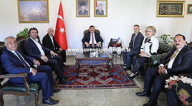 Ahilik Kutlama Komitesinden Vali Sarıibrahim'e Ziyaret