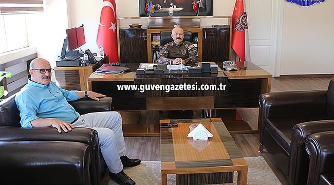 Gazetemiz İmtiyaz Sahibi İsmail Aras'tan Emniyet Müdürü Yonca'ya Ziyaret