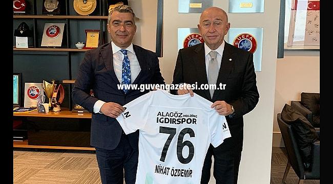 Iğdırspor Başkanı Cantürk Alagöz'den TFF Başkanı Nihat Özdemir'e Ziyaret