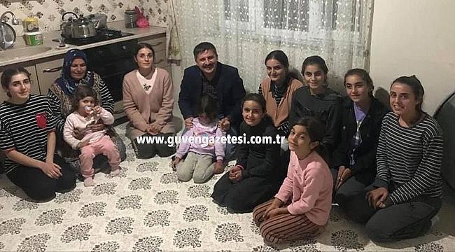 Vali Sarıibrahim'den 9 Kız Çocuklu Öztürk Ailesine Ziyaret